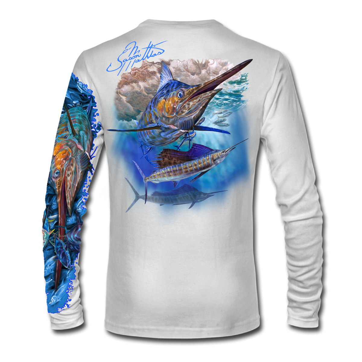 marlin-sailfish-white-shirt-jason-mathias-apparel-gear-fishing-gamefish-art-sportfish-art-tee-shirt-t-shirt-clothing.png