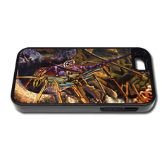 """iPhone 5 & 5s fine art phone case"" by artist Jason Mathias: Carry around this unique piece of personalized art of a Spiny Lobster in a hole while protecting your phone all at the same time!"