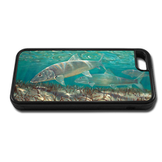 """iPhone 5c fine art phone case"" by artist Jason Mathias: Carry around this unique piece of personalized art of a Bonefish while protecting your phone all at the same time!"