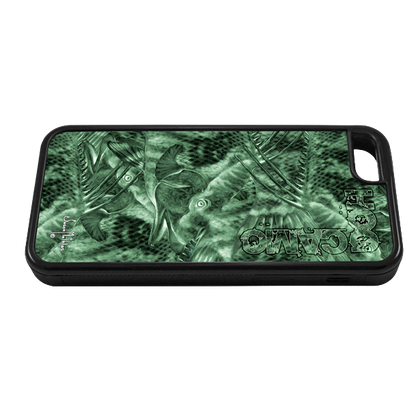 """""""iPhone 5c fine art phone case"""" by artist Jason Mathias: Carry around this unique piece of personalized art of brilliantly designed camo pattern using Jason's Hogfish painting while protecting your phone all at the same time!"""