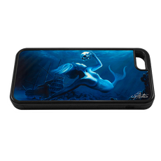 """iPhone 5c fine art phone case"" by artist Jason Mathias: Carry around this unique piece of personalized art of a beauitful mermaid while protecting your phone all at the same time!"