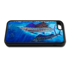 """iPhone 5c fine art phone case"" by artist Jason Mathias: Carry around this unique piece of personalized art of two Sailfish lit up balling bait while protecting your phone all at the same time!"