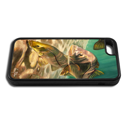 """iPhone 5c fine art phone case"" by artist Jason Mathias: Carry around this unique piece of personalized art of a school of Snook while protecting your phone all at the same time!"