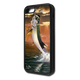 """iPhone 5c fine art phone case"" by artist Jason Mathias: Carry around this unique piece of personalized art of a leaping Tarpon framed against a blazing sunset while protecting your phone all at the same time!"