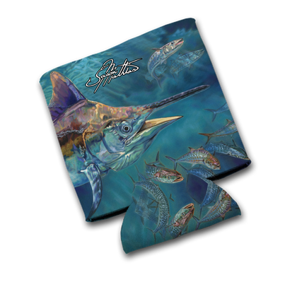 "Jason Mathias Art Koozies & Coolie Cups: Featuring ""Liquid Metal"" A beautiful grander Black Marlin all lit up!"
