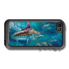 """iPhone 5, 5s & 5c fine art LifeProof Skin"" by artist Jason Mathias: Carry around this unique piece of personalized art of a black marlin while protecting your phone all at the same time!"
