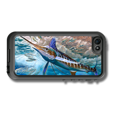 """iPhone 5, 5s & 5c fine art LifeProof Skin"" by artist Jason Mathias: Carry around this unique piece of personalized art of a White Marlin while protecting your phone all at the same time!"