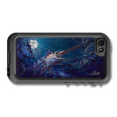 """iPhone 5, 5s & 5c fine art LifeProof Skin"" by artist Jason Mathias: Carry around this unique piece of personalized art of a Swordfish under the moon lit surface while protecting your phone all at the same time!"