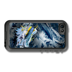 """iPhone 5, 5s & 5c fine art LifeProof Skin"" by artist Jason Mathias: Carry around this unique piece of personalized art of a Yellowfin Tuna while protecting your phone all at the same time!"