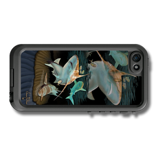 """iPhone 5, 5s & 5c fine art LifeProof Skin"" by artist Jason Mathias: Carry around this unique piece of personalized art of a mighty Sandbar Shark while protecting your phone all at the same time!"