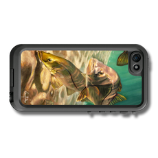 """iPhone 5, 5s & 5c fine art LifeProof Skin"" by artist Jason Mathias: Carry around this unique piece of personalized art of two sea bright inlet snook while protecting your phone all at the same time!"