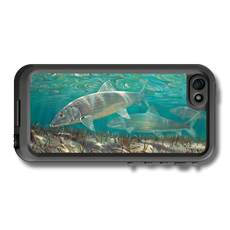 """iPhone 5, 5s & 5c fine art LifeProof Skin"" by artist Jason Mathias: Carry around this unique piece of personalized art of two sea bright Bone Fish stalking the flats while protecting your phone all at the same time!"