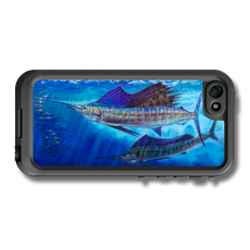 """iPhone 5, 5s & 5c fine art LifeProof Skin"" by artist Jason Mathias: Carry around this unique piece of personalized art of a lit up sailfish while protecting your phone all at the same time!"
