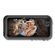 """iPhone 5, 5s & 5c fine art LifeProof Skin"" by artist Jason Mathias: Carry around this unique piece of personalized art of a Hogfish and Lobster guarding a coarl reef while protecting your phone all at the same time!"