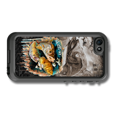 """iPhone 5, 5s & 5c fine art LifeProof Skin"" by artist Jason Mathias: Carry around this unique piece of personalized art of an inshore slam the snook, trout and redfish while protecting your phone all at the same time!"