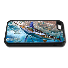 """iPhone 6 fine art phone case"" by artist Jason Mathias: Carry around this unique piece of personalized art of a lit up White Marlin competing with a Spearfish over Sardines while protecting your phone all at the same time!"
