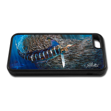 """iPhone 6 fine art phone case"" by artist Jason Mathias: Carry around this unique piece of personalized art of a Striped Marlin corralling a school of Tinker Mackerel while protecting your phone all at the same time!"