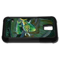 """Samsung Galaxy S5 fine art phone case"" by artist Jason Mathias: Carry around this unique piece of personalized art of a Mahi, Dorado, or Dolphin while protecting your phone all at the same time!"