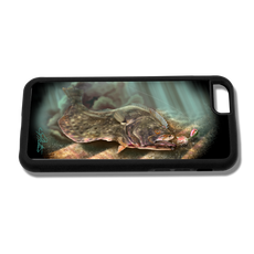 """iPhone 6 fine art phone case"" by artist Jason Mathias: Carry around this unique piece of personalized art of a Fluke or Summer Flounder ambushing a lure while protecting your phone all at the same time!"