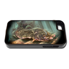 """iPhone 5 & 5s fine art phone case"" by artist Jason Mathias: Carry around this unique piece of personalized art of a Fluke or Flounder ambushing a lure while protecting your phone all at the same time!"