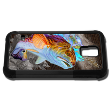"""Samsung Galaxy S5 fine art phone case"" by artist Jason Mathias: Carry around this unique piece of personalized art of beautiful Redfish while protecting your phone all at the same time!"