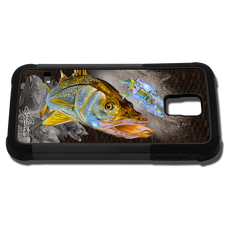 """Samsung Galaxy S5 fine art phone case"" by artist Jason Mathias: Carry around this unique piece of personalized art of beautiful Snook while protecting your phone all at the same time!"