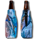"Jason Mathias Fine Art Bottle Koozies & Coolie Cups: Featuring ""White Rabbit"" a lit up White Marlin corralling a school of sardines!  Sport your very own Jason Mathias White Marlin Coolie Cup when fishing, on a sunset cruises, at a barbeque or just hanging out at the sandbar. These awesome bottle suits are sure to keep your beverage ice cold in style!"