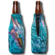 "Jason Mathias Fine Art Bottle Koozies & Coolie Cups: Featuring ""Sushi Roll"" a lit up Blue Marlin corralling a massive school of yellowfin tuna!  Sport your very own Jason Mathias Blue Marlin Coolie Cup when fishing, on a sunset cruises, at a barbeque or just hanging out at the sandbar. These awesome bottle suits are sure to keep your beverage ice cold in style!"