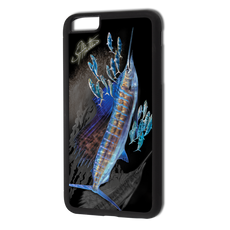 """iPhone 6 Plus fine art phone case"" by artist Jason Mathias: Carry around this unique piece of personalized art of two Sailfish lit up balling bait while protecting your phone all at the same time!  Our phone cases provide supirior quality with a double layer of protection- outer ABS plastic shell and rubber honeycomb inside for shock absorption and a well shielded sublimated aluminum fine art plate that wont fade.  Case provides effective protection from dust, damage or any other unexpected situations.  (Made in the USA)"