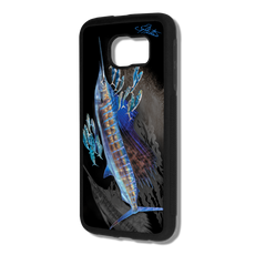 """Samsung Galaxy S6 fine art phone case"" by artist Jason Mathias: Carry around this unique piece of personalized art of a lit up Sailfish balling up some sardines all while protecting your phone all at the same time!  Our phone cases provide supirior quality with a layer of protection- outer ABS plastic shell and silicone rubber inside for shock absorption and a well shielded sublimated aluminum fine art plate that wont fade.  Case provides effective protection from everyday damage or any other unexpected situations."