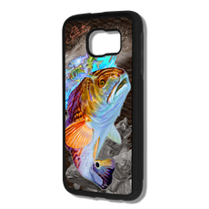 """Samsung Galaxy S6 fine art phone case"" by artist Jason Mathias: Carry around this unique piece of personalized art of a Redfish all while protecting your phone all at the same time!  Our phone cases provide supirior quality with a layer of protection- outer ABS plastic shell and silicone rubber inside for shock absorption and a well shielded sublimated aluminum fine art plate that wont fade."