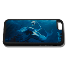"""""""iPhone 6 fine art phone case"""" by artist Jason Mathias: Carry around this unique piece of personalized art of a beautiful mermaid while protecting your phone all at the same time!  Our phone cases provide supirior quality with a double layer of protection- outer ABS plastic shell and rubber honeycomb inside for shock absorption and a well shielded sublimated aluminum fine art plate that wont fade.  Case provides effective protection from dust, damage or any other unexpected situations."""