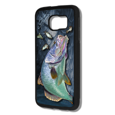 """Samsung Galaxy S6 fine art phone case"" by artist Jason Mathias: Carry around this unique piece of personalized art of a Barramundi all while protecting your phone all at the same time!  Our phone cases provide supirior quality with a layer of protection- outer ABS plastic shell and silicone rubber inside for shock absorption and a well shielded sublimated aluminum fine art plate that wont fade.  Case provides effective protection from everyday damage or any other unexpected situations."