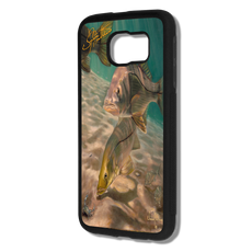 "jason-mathias-inlet-snook-samsung-galaxy-s7-case.png  Samsung Galaxy S7 fine art phone case"" by artist Jason Mathias: Carry around this unique piece of personalized art of a two sea-bright inlet Snook all while protecting your phone all at the same time!  Our phone cases provide superior quality with a layer of protection- outer ABS plastic shell and silicone rubber inside for shock absorption and a well shielded sublimated aluminum fine art plate that wont fade.  Case provides effective protection from everyday damage or any other unexpected situations.  (Made in the USA)"