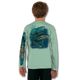 Seagrass Green  tuna-white-youth-solar-ls-back-performance-shirt.png  Stay cool with Jason Mathias's popular line of T-shirts for boys and girls! Catch your kids a Jason Mathias youth tee to match the one that you have, or help inspire their love for their favorite fish species like this awesome scene featuring a whimsical Yellowfin Tuna colorfully shimmering against its underwater world. This fine art design is sublimated using superior technology that definitely makes for a top favorite among all young anglers and outdoor enthusiasts worldwide!  Say goodbye to sunburns and hello to the supreme comfort of the Jason Mathias youth Solar Performance Long Sleeve shirt! This awesome shirt offers superior sun protection and performance qualities. It is so comfortable that you will feel like you're not even wearing a shirt! Our shirts don't snag or catch, which makes it a must when doing what you do best! Featuring up to UPF +50 solar protection, the Solar Performance Long Sleeve is lightweight, comfortable, and sure to keep the sun's rays from penetrating through to your skin. This fabric is powered by PURE-tech™ moisture wicking technology which will keep you cooler in the summer and warmer in the winter.  Fabric: 4.1oz. / 100% Performance w/ UPF Protection  Made in USA