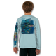Arctic Blue  tuna-white-youth-solar-ls-back-performance-shirt.png  Stay cool with Jason Mathias's popular line of T-shirts for boys and girls! Catch your kids a Jason Mathias youth tee to match the one that you have, or help inspire their love for their favorite fish species like this awesome scene featuring a whimsical Yellowfin Tuna colorfully shimmering against its underwater world. This fine art design is sublimated using superior technology that definitely makes for a top favorite among all young anglers and outdoor enthusiasts worldwide!  Say goodbye to sunburns and hello to the supreme comfort of the Jason Mathias youth Solar Performance Long Sleeve shirt! This awesome shirt offers superior sun protection and performance qualities. It is so comfortable that you will feel like you're not even wearing a shirt! Our shirts don't snag or catch, which makes it a must when doing what you do best! Featuring up to UPF +50 solar protection, the Solar Performance Long Sleeve is lightweight, comfortable, and sure to keep the sun's rays from penetrating through to your skin. This fabric is powered by PURE-tech™ moisture wicking technology which will keep you cooler in the summer and warmer in the winter.  Fabric: 4.1oz. / 100% Performance w/ UPF Protection  Made in USA