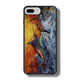 """iPhone 7 Plus fine art phone case"" by artist Jason Mathias: Carry around this unique piece of personalized art of a massive Blue Marlin exploding over an ocean wave and scattering a school of feeding tunas as frigate birds circle overhead while protecting your phone all at the same time!  Our phone cases provide superior quality when compared with other slim silicone rubber cases. Our case provides a layer of silicone protection- and an extended lip to protect your phone screen from touching or rubbing on surfaces. Our cases also have a comfortable textured grip and easy access to all buttons and plugins. The art plate is extremely tough, a well shielded sublimated aluminum fine art plate that wont fade or scratch.  Case provides effective protection from dust, damage or any other unexpected situations.  (Made in the USA)"