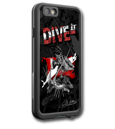 "lifeproof-6-dive-it-jason-mathias.png  ""iPhone 7 fine art LifeProof Skin"" by artist Jason Mathias: Carry around this unique piece of personalized art of a beautiful Hogfish and Lobster defending a coral reef that any Diver will love, all while protecting your phone all at the same time!  Our LifeProof Skins provide superior quality with a well shielded waterproof aluminum fine art plate, a special waterproof adhesive that custom fits your Lifeproof case that wont fade.  :LifeProof Cases is not included. The skin isn't a sticker, its a sublimated aluminum plate.  (Made in the USA)  Instructions -   1. Use supplied alcohol pad to fully clean the back of the LifeProof case.  2. Make sure the back of the LifeProof case is completely dry and free of dirt or grease.  3. Take the supplied Jason Mathias LP skin and make sure it lines up with the camera on the back of the LifeProof case.  4. Remove the wax paper from the back of the Jason Mathias skin.  5. Align the notch in the JM skin with the LP camera, while keeping the plate tilted in an upwards position until the corners meet.  6. Once aligned slowly start lowering the skin onto the back of the case. Once the skin is rested on the case and aligned start pressing the skin firmly onto the case back.  7. The skin needs 24-48 hours to cure, you can use the case but don't flex or use underwater until the curing period is over."