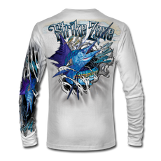 This shirt is truly awesome, featuring Jason Mathias's fine art rendition of a Sailfish, busting and ripping right out of the shirt is sure to catch the eye and the fish. fine art design is sublimated onto our superior technology that definitely makes for a top favorite among all anglers and outdoor enthusiast world wide!