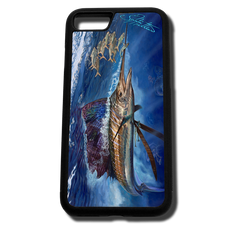 iPhone 8 fine art phone case by artist Jason Mathias: Carry around this unique piece of personalized art of a brilliantly lit up Sailfish ambushing a bait ball in the open ocean while protecting your phone all at the same time!