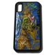 iPhone X fine art phone case by artist Jason Mathias: Carry around this unique piece of personalized art of a brilliantly lit up Mahi, Dorado or Dolphin fish ambushing Flying fish under the weed line while protecting your phone all at the same time!