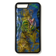 iPhone 8 plus fine art phone case by artist Jason Mathias: Carry around this unique piece of personalized art of a brilliantly lit up Mahi, Dorado or Dolphin fish ambushing Flying fish under the weed line while protecting your phone all at the same time!  Our phone cases provide superior quality when compared with other slim silicone rubber cases. Our case provides a layer of silicone protection- and an extended lip to protect your phone screen from touching or rubbing on surfaces. Our cases also have a comfortable textured grip and easy access to all buttons and plugins. The art plate is extremely tough, a well shielded sublimated aluminum fine art plate that wont fade or scratch.   Case provides effective protection from dust, damage or any other unexpected situations.  (Printed and assembled in the USA)