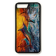 iPhone 8 plus fine art phone case by artist Jason Mathias: Carry around this unique piece of personalized art of a brilliantly lit up Blue Marlin and Tuna busting out of the ocean behind a brilliant sunset while protecting your phone all at the same time!