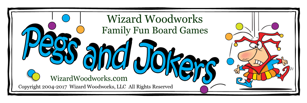 Wizard Woodworks Pegs and Jokers Game