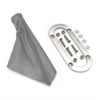 OVAL TRIM RING AND BOOT FOR EMERGENCY BRAKE ASSY. - GRAY