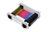 R5H004NAA - Half panel color ribbons 1/2 YMCKO 400 prints/roll