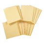 "11"" Index Tabs,  Individual Letters , 26th cut,  (25/pkg)"
