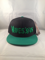 Waves R Us Black & Green Snap Back Hat