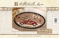 Truck Full of Joy Buttermilk Basin 1321 pattern table mat