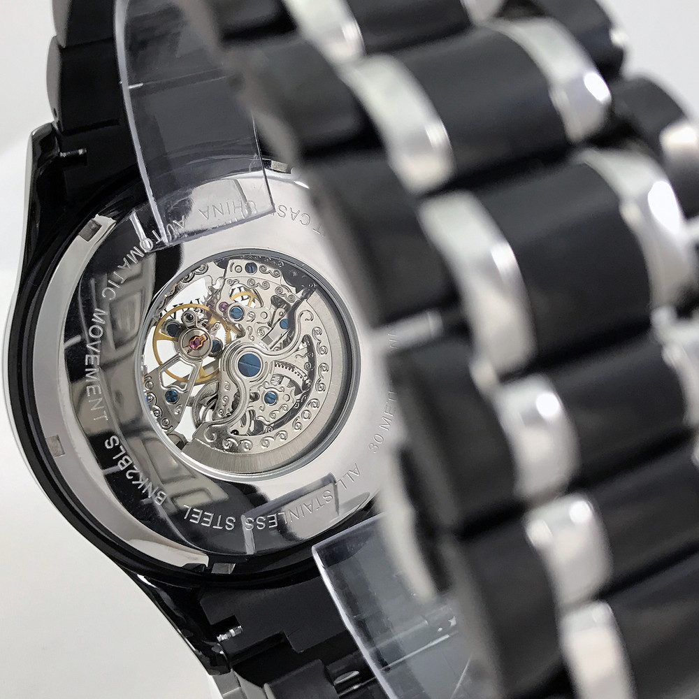 Clear Case Back allows you to see completely through the automatic movement.